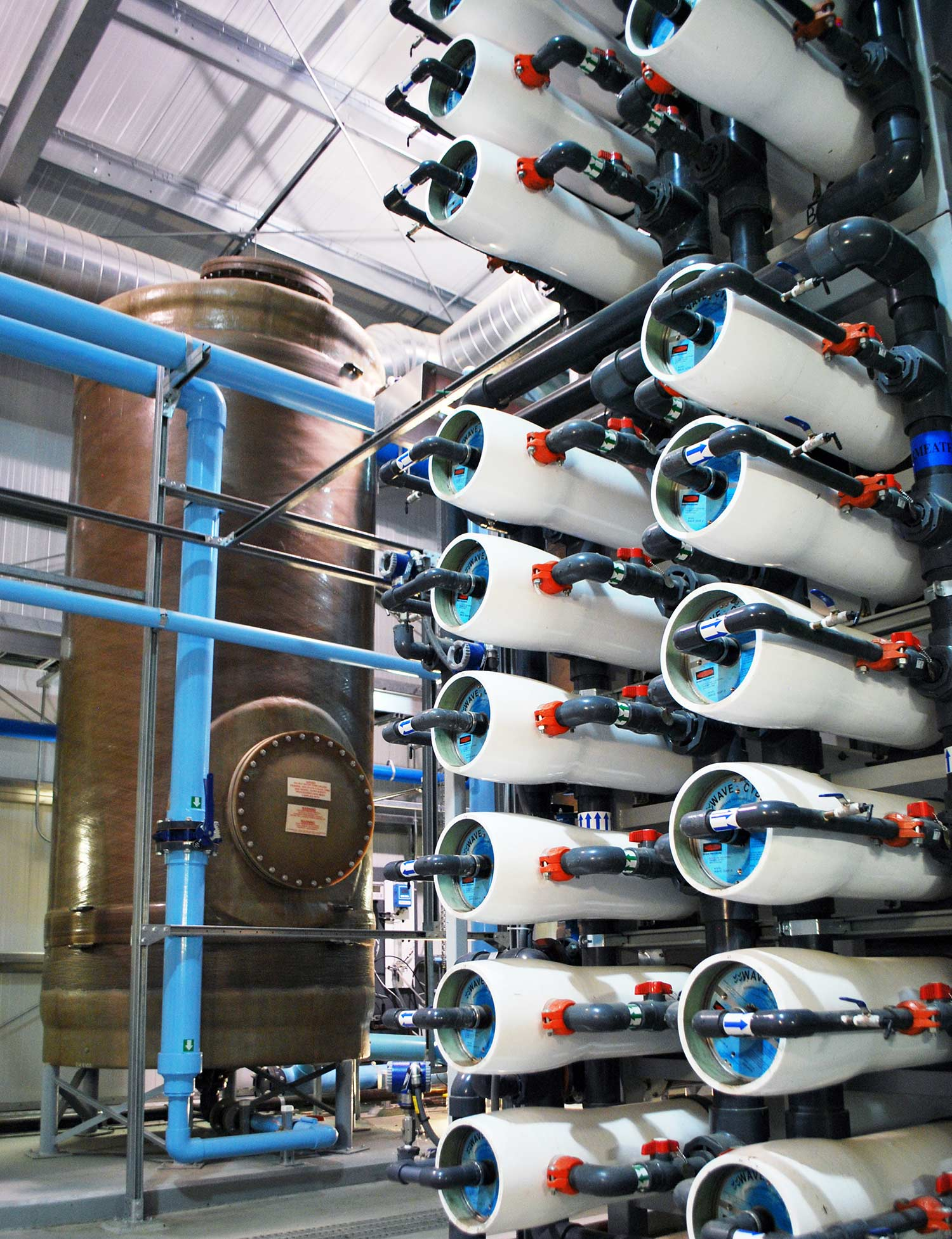 Biological Filtration in a SIBROM water treatment system.